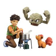G.E.M. Series Pokemon Brock & Geodude & Vulpix PVC Figure