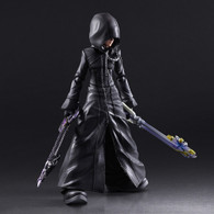 Kingdom Hearts II Play Arts Kai Roxas -Organization XIII Ver. Action Figure