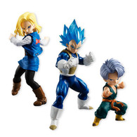 Dragon Ball Styling Android No.18/SSGSS Vegeta/Childhood Trunks PVC Figure SET