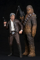 Artfx+ Han Solo & Chewbacca 2Pack Force Awakens Version  1/10 PVC Figure