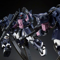 RG 1/144 MS-06R-1A Black Tri-Stars Zaku II (Triple Action Set) Plastic Model ( JUN 2018 )