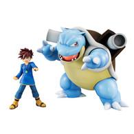G.E.M. Series Pokemon Shigeru & Blastoise PVC Figure