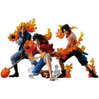 BANDAI Premium One Piece ATTACK STYLING Three Brothers of Flame SET of 3 PVC Figure
