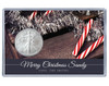 Christmas Silver Eagle Acrylic Display - Candycane Theme