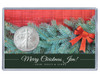 Christmas Silver Eagle Acrylic Display - Evergreen