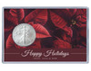 Christmas Silver Eagle Acrylic Display - Pointsettas