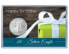 Birthday Silver Eagle Acrylic Display - Present