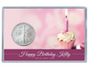 Birthday Silver Eagle Acrylic Display - Pink Cupcake - customized