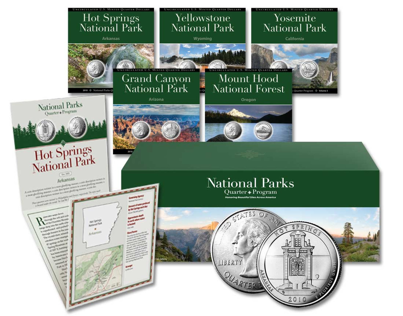 National Parks Quarter Club Membership National Parks Quarters - Us map for collecting quarters