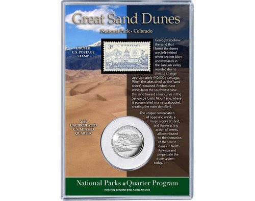 Great Sand Dunes National Park Coin & Stamp Set