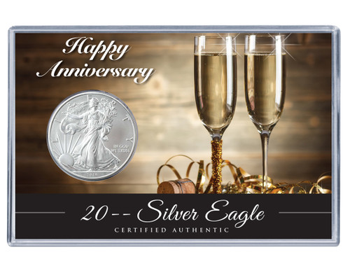 Anniversary Silver Eagle Acrylic Display