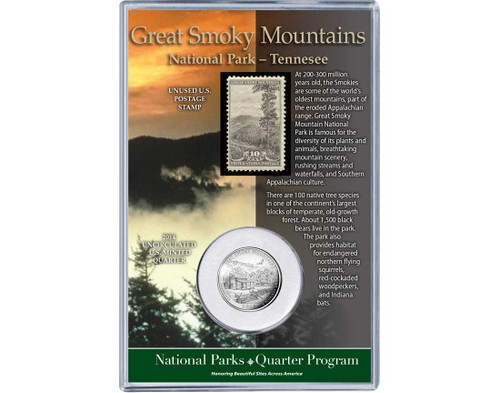 Great Smoky Mountains National Park Coin & Stamp Set