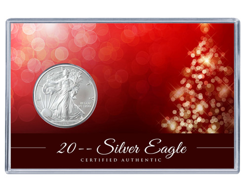 Christmas Silver Eagle Acrylic Display