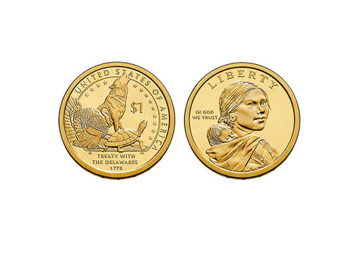 2013 Native American Dollar P Mint Coin Roll