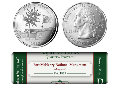 Fort McHenry National Monument and Historic Shrine D Mint Quarter Roll