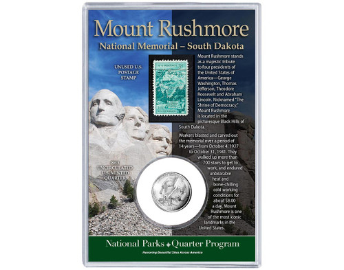 Mount Rushmore National Memorial Coin & Stamp Set