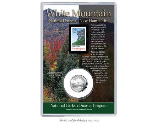 White Mountain National Forest Coin & Stamp Set