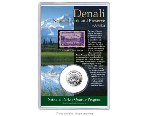 Denali National Park Coin & Stamp Set