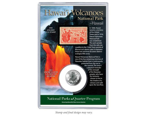 Hawai'i Volcanoes National Park Coin & Stamp Set
