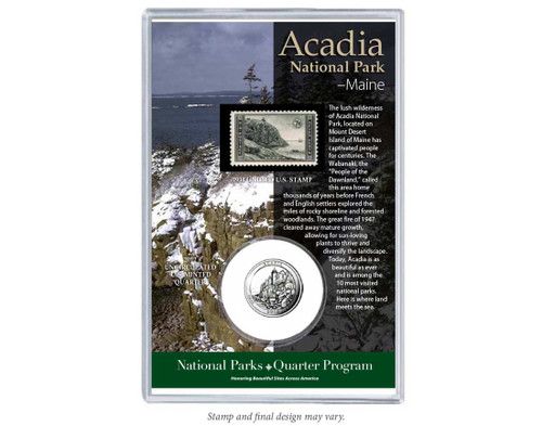 Acadia National Park Coin & Stamp Set
