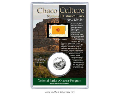 Chaco Culture National Historical Park Coin & Stamp Set