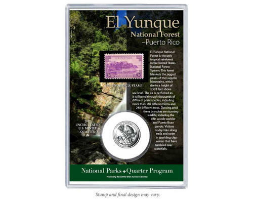 El Yunque National Forest Coin & Stamp Set
