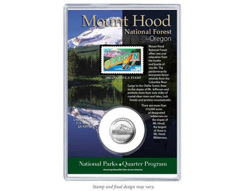 Mount Hood National Forest Coin & Stamp Set