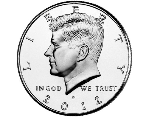 "2012 Kennedy Half Dollar ""D"" Roll"