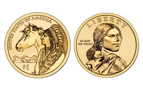 2012 Native American Dollar D Mint Coin Roll