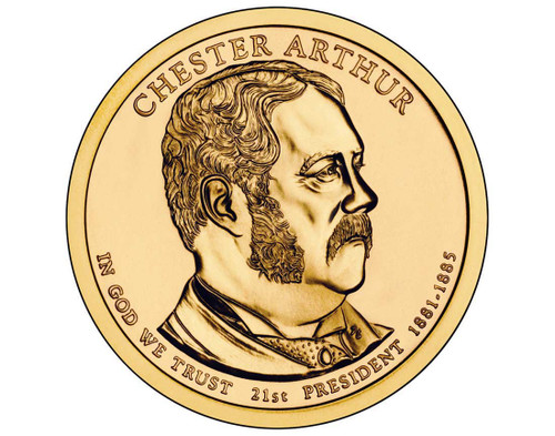 Chester Arthur $1 P Mint Single Coin