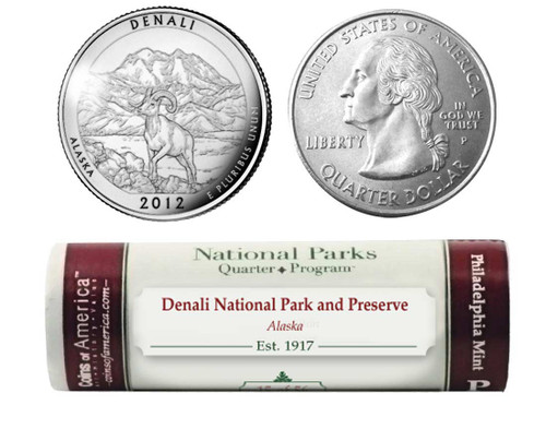 Denali National Park P Mint Quarter Roll
