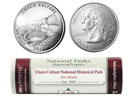 Chaco Culture National Historical Park P Mint Quarter Roll