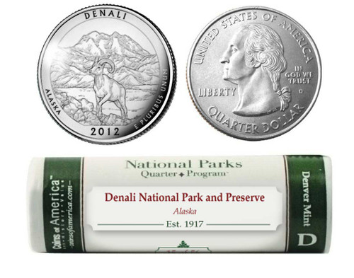 Denali National Park D Mint Quarter Roll
