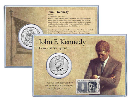JFK Coin & Stamp Set