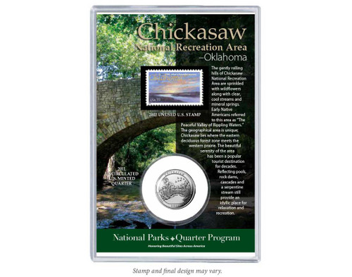 Chickasaw National Recreation Area Coin & Stamp Set