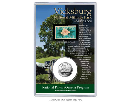 Vicksburg National Military Park Coin & Stamp Set