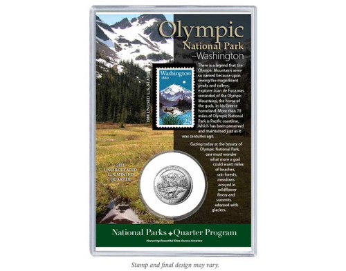 Olympic National Park Coin & Stamp Set