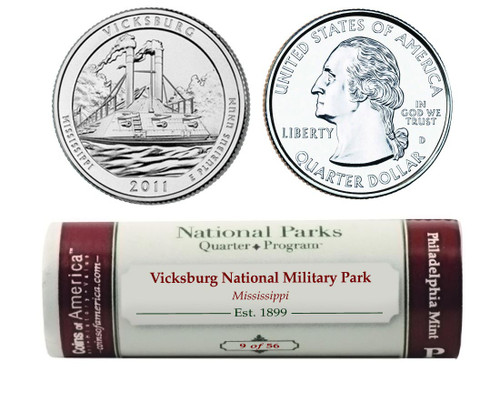 Vicksburg P Mint Quarter Roll