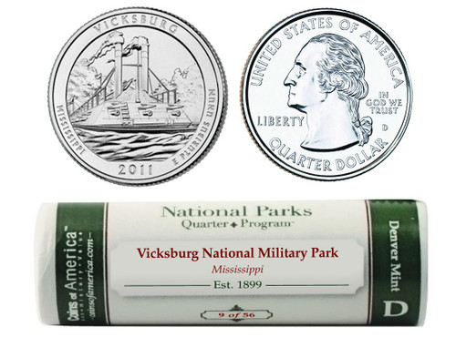 Vicksburg D Mint Quarter Roll
