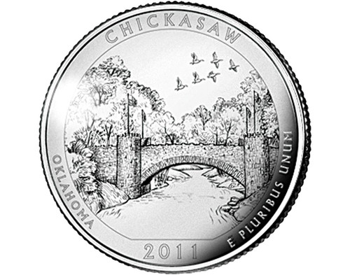 Oklahoma Chickasaw Nat'l Recreation Area Quarter P- 2011