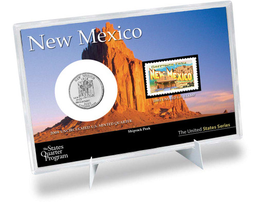 New Mexico State Quarter & Stamp Set