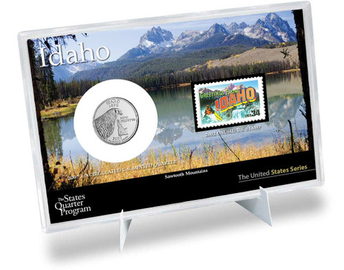 Idaho State Quarter & Stamp Set