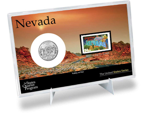 Nevada State Quarter & Stamp Set