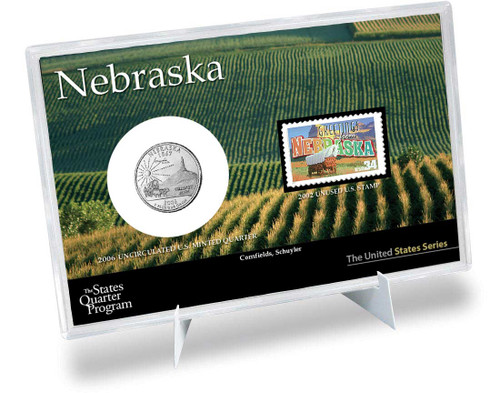 Nebraska State Quarter & Stamp Set