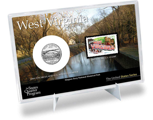 West Virginia State Quarter & Stamp Set