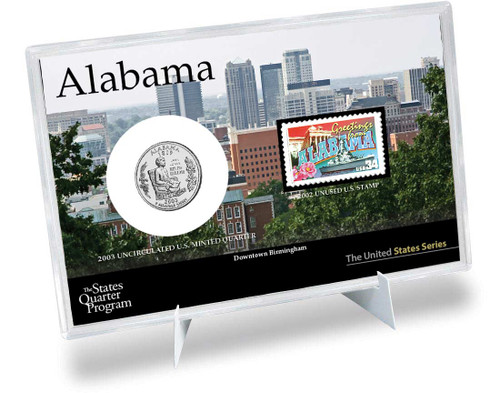 Alabama State Quarter & Stamp Set