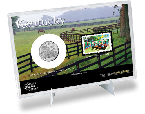 Kentucky State Quarter & Stamp Set