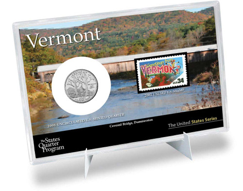 Vermont State Quarter & Stamp Set
