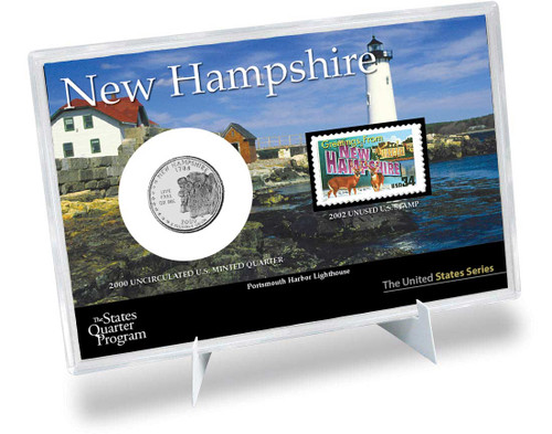 New Hampshire State Quarter & Stamp Set