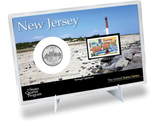 New Jersey State Quarter & Stamp Set